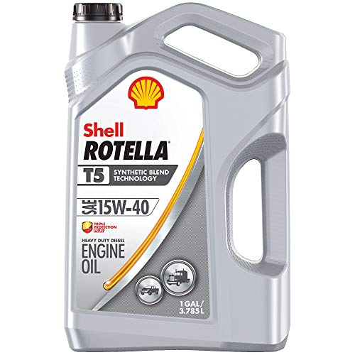 Shell Rotella T - 550045348 5 Synthetic Blend 15W-40 Diesel Motor Oil (1-Gallon, Single-Pack)