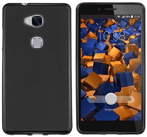 mumbi Hülle kompatibel mit Honor 5X Handy Case Handyhülle, schwarz