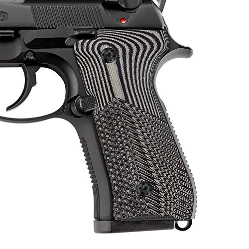 Cool Hand Beretta 92/96 Super Slim Full Size G10 Grips, Screws Included, Ops Texture, Brand, Grey/Black