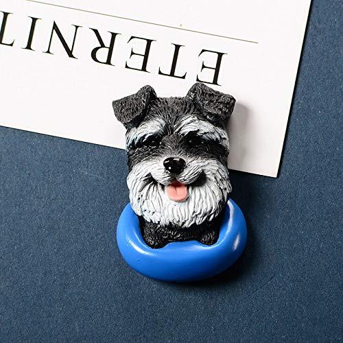 jiao Perro Mascota de Dibujos Animados imán de Nevera 3D Cachorro Animal Lindo Mensaje Creativo Mensaje imán Creativo Pasta de Nevera imanes de Nevera Schneider
