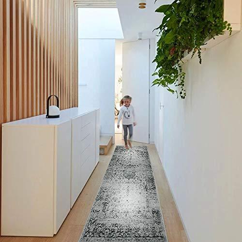 YX-lle Home Teppich Flurläufer Teppich Läufer Teppich Shaggy Hochflor Teppich Muster Teppich Für Runner Flur Eingang (Vintage,60 x 180 cm)