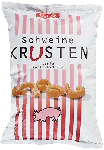 Delvita Schweinekrusten (1 x 175 g) - Speckkrusten - Knabberei