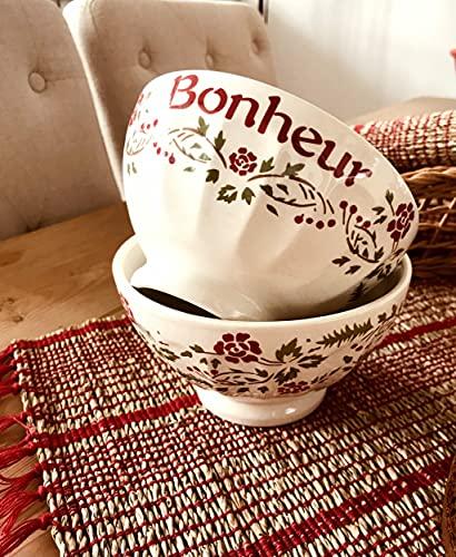 Comptoir de Famille Bol Bonheur Floral 45cl Faience