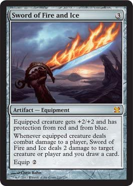 Limited time sale Very popular Magic The Gathering - Sword of Modern Fire and Masters Ice