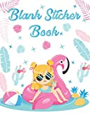 Blank Sticker Book: My Awesome Sticker Book - Cute Flamingo Sticker Album for Collecting Stickers For Kids, Boys, Girls Birthday