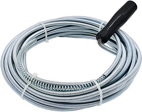 3 bis 10 m Rohrreinigungsspirale mit Bohrspitze für Abfluss & Siphon Dusche Waschbecken Bad (3 m x 5 mm)