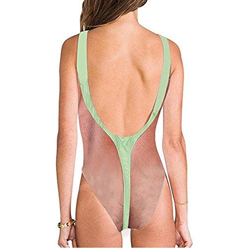 Overdose Mujer Estampado 3D Mankini De Borat Monokini para SeñOrita De Interesante Cabello Broma De Fiesta De Traje De BañO Kawaii Oferta Cintura Alta