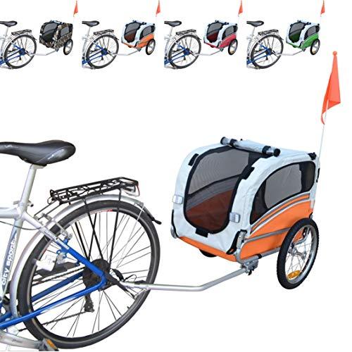 Papilioshop Snoopy Remolque de Bicicleta para el Transporte de Perros y Animales (Naranja S)