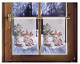 2er Set Scheibenhänger WICHTEL Weihnachtsgardinen im Landhausstil