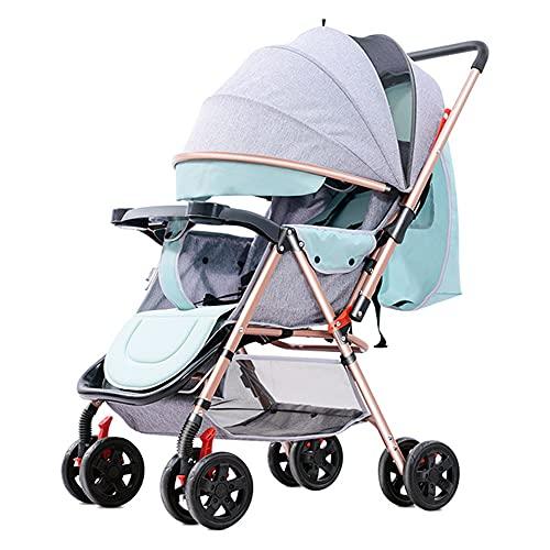 HXXXIN El Cochecito de bebé Puede Sentarse, acostarse, plegarse, iluminarse y Llevar un Cochecito de bebé de Dos vías Multiusos con Paraguas Cochecito de bebé recién Nacido