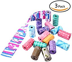 Pet Love Fragrant Poop Bag For Your Lovely Puppy, Never Stench When Pick Up Dog Poop,Environmentally Friendly And It Is Good To Who Afraid Of Bad Smell With Poop 3 Pcs/Set - Random Color