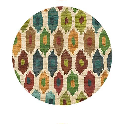BBXW Amerikaner Vintage Drucken Teppich,Europäisch Land Stil Teppiche,Waschbar Runde Anti Rutsch Carpet,Für Arbeitszimmer Schlafzimmer Carpetia