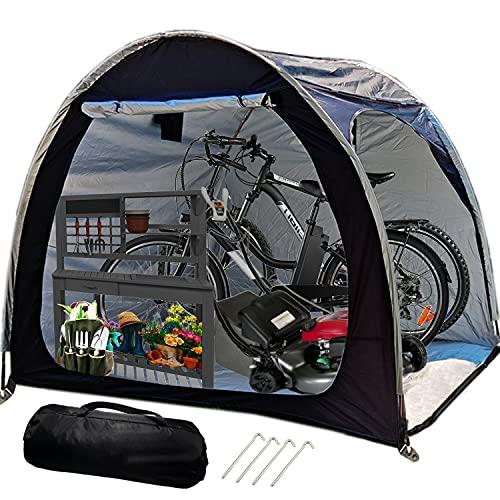 HERAHQ Carpa Guardar Bicicletas para 4 Bicicletas, Carpa Impermeable para Bicicletas Jardín,...