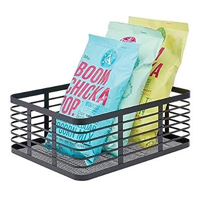 mDesign Metal Wire Food Organizer Storage Bins Basket from