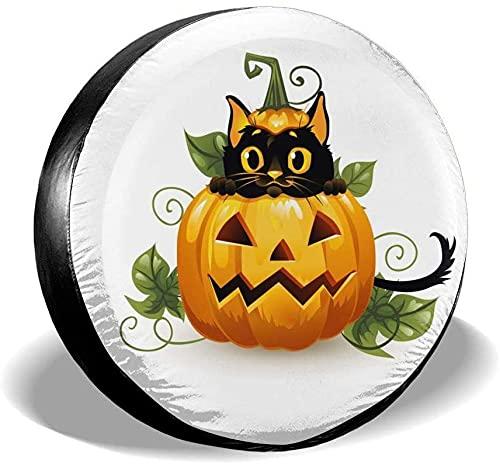 MODORSAN Pumpkin Lantern Cubierta de neumático de Repuesto,poliéster Universal 17 Pulgadas Cubierta de neumático de Repuesto para Remolque,RV,SUV,camión,camión,Camper,Viaje,Remolque,Accesorios