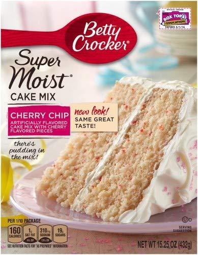 Betty Crocker Super Moist Cake Mix Cherry Chip (Pack of 6)