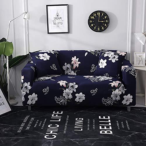 Funda de sofá con Estampado Floral Toalla de sofá Fundas de sofá para Sala de Estar Funda de sofá Funda de sofá Proteger Muebles A12 4 plazas