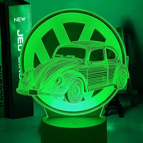 Anime - Lámpara 3D mágica para el coche, decoración de habitación infantil, luz nocturna, colorida, atmosférica, modelo tridimensional, hecha a mano, LED, luz nocturna, regalo de cumpleaños para niños