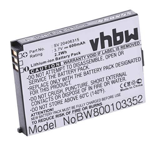 vhbw Li-Ion Akku 600mAh (3.7V) für Handy Swissvoice eSense, eSense Color E, SV 20406288 wie C8425, SV 20406315.