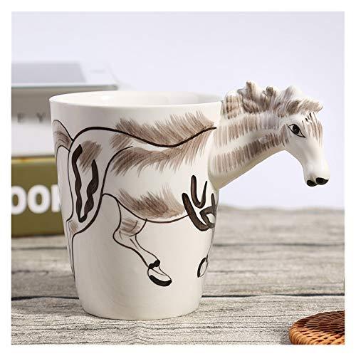 JSJJRGB Taza de Agua estéreo Pintado a Mano 3D de la Taza de café Rojo de la Taza de café de la Taza de café (Capacity : 400ml, Color : 4)