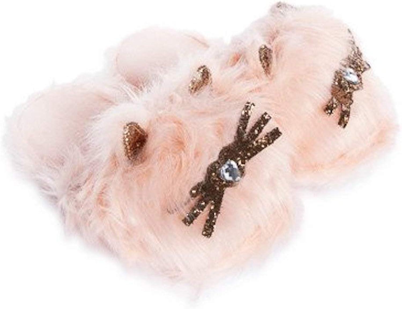 Five Below 3D Fuzzy Kawaii Cat Slippers Womens Pink