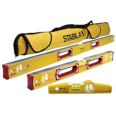 "Stabila Classic 196 3 Level Set Includes 48""/24""/25100 Torpedo and 30015 Case by STABILA"