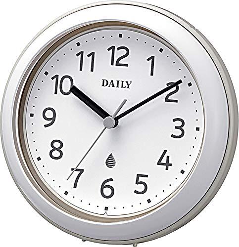 リズム時計工業(Rhythm) 掛け時計 グレー Φ11.8x4.8cm 置き時計 防水 防塵 アクアパークDN 4KG711DN08