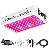 King Plus 600W LED Grow Light Full Spectrum for Indoor Plants Veg and Flower(Dual-Chip 10W LEDs 60Pcs)