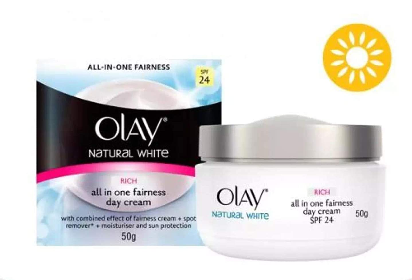 宿題剃るソースOLAY Natural White All-IN-ONE FAIRNESS RICH【DAY】SPF24 50g [並行輸入品]