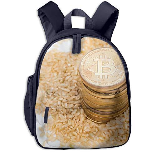 Kinderrucksack Kleinkind Jungen Mädchen Kindergartentasche Bitcoin Food Cuisine Gericht Reis Backpack Schultasche Rucksack