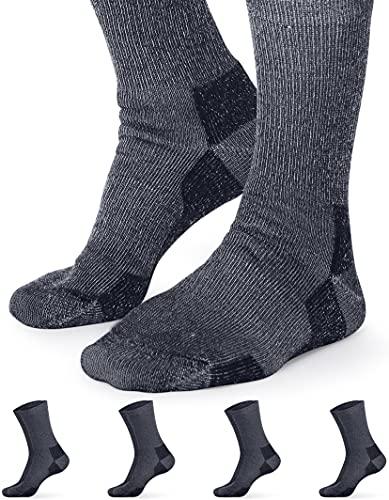 Pembrook Merino Wool Socks For Women & Men   4-Pack Warm Thermal Socks   Hunting, Hiking, Skiing