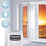 400cm Window Seal for Portable Air Conditioner and Tumble Dryer, Compatible with Every Mobile Air Conditioning Unit,Air Exchange Guards With Zip and Waterproof