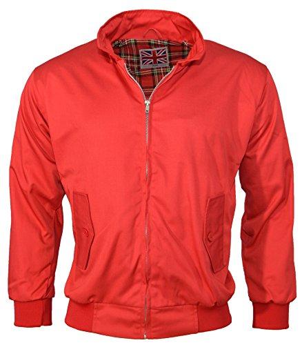 Urban Couture Clothing, Unisex Bomberjacke Harrington - Rot, L