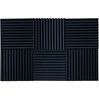 TroyStudio Acoustic Sound Diffuser Panel White 12 X 12 X 1 PACK of 4 Multiple Colors
