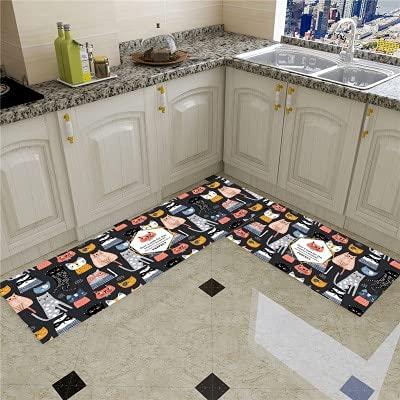 HLXX Alfombra de cocina más barata antideslizante alfombra de sala de estar, balcón, baño, alfombra impresa, pasillo geométrico A2 50 x 160 cm