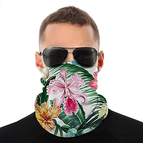 hgdfhfgd Floral Tropical Primavera Flor Naturaleza Cara Bufanda Cubierta Deporte al Aire Libre Correr Mujeres Hombres Cubierta Facial Variedad Cara Toalla Cuello Diadema