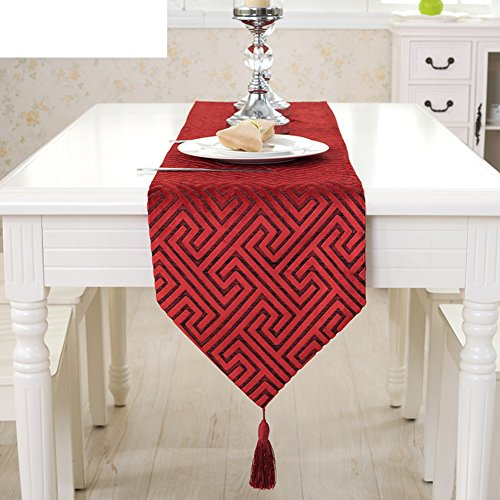 simple style européen indicateur creux de table moderne chemin de table de thé tissu décoratif art de tissu de table serviette de mode ouest-D 30x200cm(12x79inch)