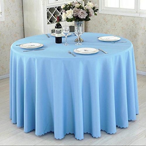 HHLQY Hotel Restaurant Konferenz Tischdecke Tee Tisch massiv Farbe Tischdecke (Pink, Dunkelgrün, Blau, Rot), Stoff, himmelblau, 200 cm