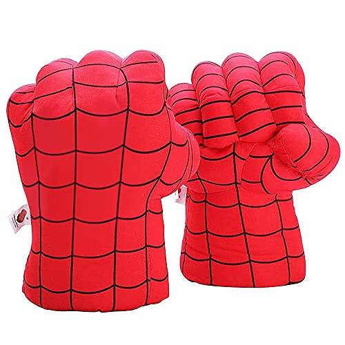 Aenmil Kids Boxing Gloves, Soft Plush Hands Super Hero Red Fists Cosplay Costume Toy Fists for Birthday Christmas