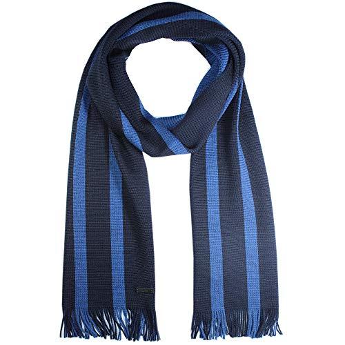 Hugo Boss Herren Strickschal, Brunori, 100{764abd64be9e36655e44ec30816a5081fc1f4721dedde2f3b4a12ce8cc92c87e} Wolle, Dark Blue