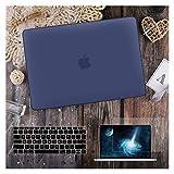 GYY para MacBook Air 11 12 13.3'Cubierta Clara De Cristal para MacBook Air Pro 13 15 16 Touch Barra/Touch ID A2289 A2338 M1 A2159 (Color : Matte Navy Blue, Size : Model A1502 A1425)