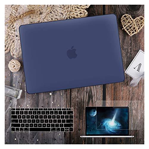 para MacBook Air 11 12 13.3'Cubierta Clara De Cristal para MacBook Air Pro 13 15 16 Touch Barra/Touch ID A2289 A2338 M1 A2159 (Color : Matte Navy Blue, Size : New air13inch 2020)