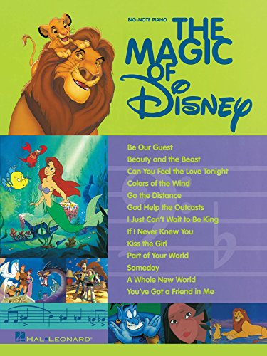 The Magic Of Disney: Big-note Piano. Partitions pour Piano, Chant et Guitare