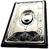 Libro de direcciones 11 x 7 cm con diseño de plata 925 de primera calidad