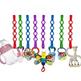 Baby Toy Straps, 8 Pack Stretchable Silicone...