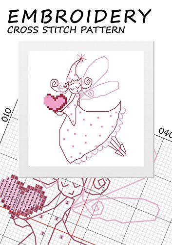 Cross stitch Christmas ornament patterns Fairy room decor Silhouette fairie ballet Decorations fairy dreams Counted cross-stitch love Needlecrafts stitchX ... line Pink artwork (English Edition)