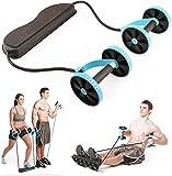 LOAER Hombres Mujer Fitness Entrenador Abdominal ABS Kit de Entrenamiento Bandas Máquina de Aptitud Fuerza Corporal Rodillo de Entrenamiento Gimnasio casero Aptitud
