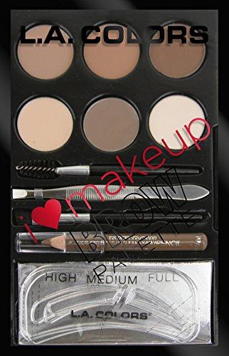 L. A. COLORS I Heart Makeup Brow Palette - Light To Medium