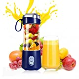 Portable Blender Personal Size Blender Juicer Cup Juice Crushed-ice Smoothie Shake,USB Rechargeable,380ml Waterproof