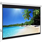 QAWACHH 100' Automatic Portable Electronic Projector Screen for Home,Office Theater Projector with...